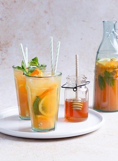 Refreshing Summer Mint Tee Honey Punch Recipe