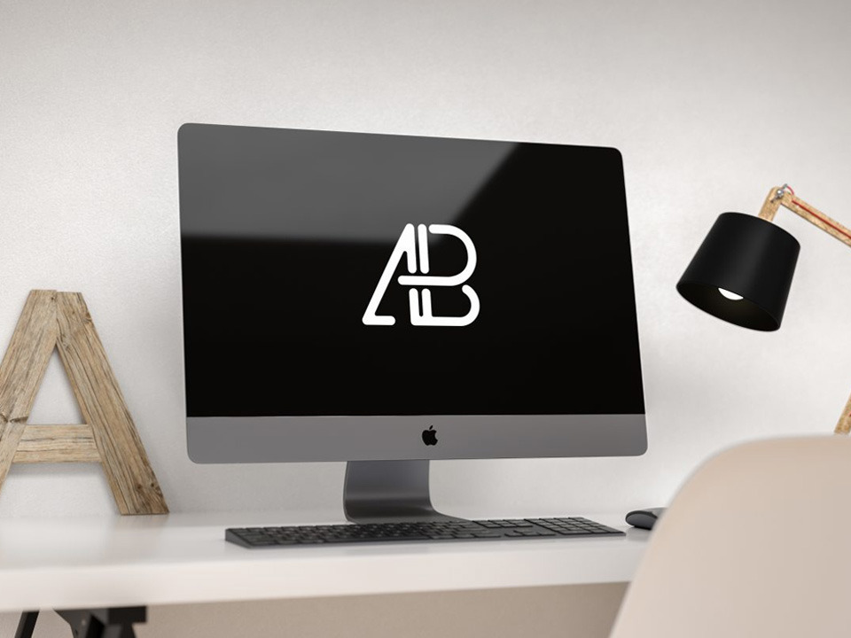 Apple Imac Pro On Desk Mockup Mockup Love