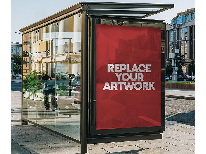 Discover 5 bus shelter mockup designs on dribbble. Bus Shelter Advertisement Display Mockup Mockup Love