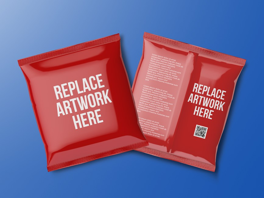 Psd file consists of smart objects. Foil Bag Packaging Mockup Mockup Love