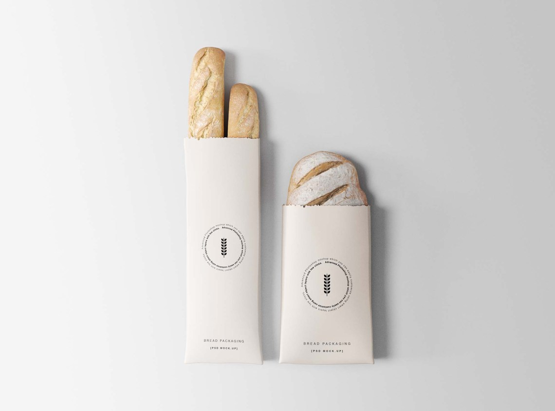 Download Free Bread Packaging Mockup (PSD) - MockupBase