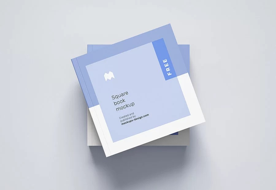 Free white and clean square book cover mockup no reviews. Free Square Book Mockup Mockup City