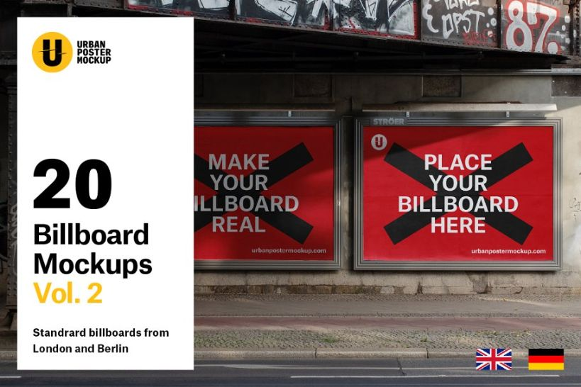urban poster mockup psd for branding