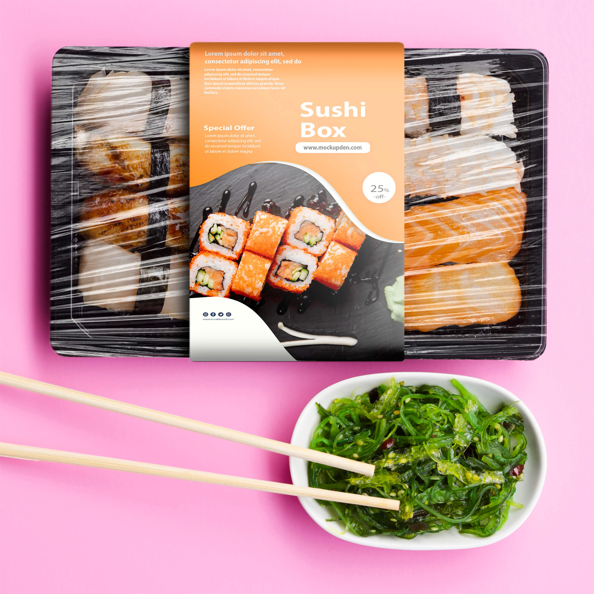 Right now we have gathered some of useful mockups, that you can use to make an unique presentation for you clients. Sushi Box Mockup 15 Best Sushi Psd Presentation Template