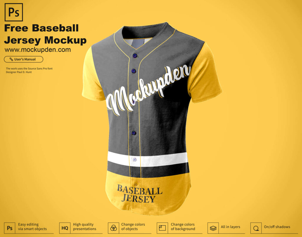 Download Free Mockups Free Mockup Baseball Jersey Psd : Baseball ...