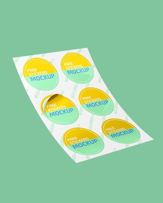 Layered psd through smart object … Stickers Free Psd Mockup Mockupfree Co