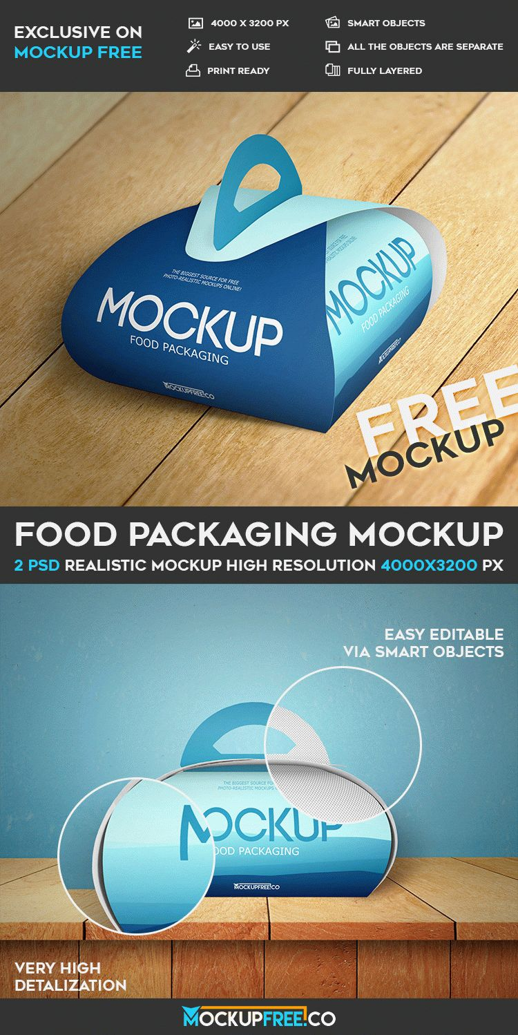 Download Food Packaging - 2 Free PSD Mockups | Download