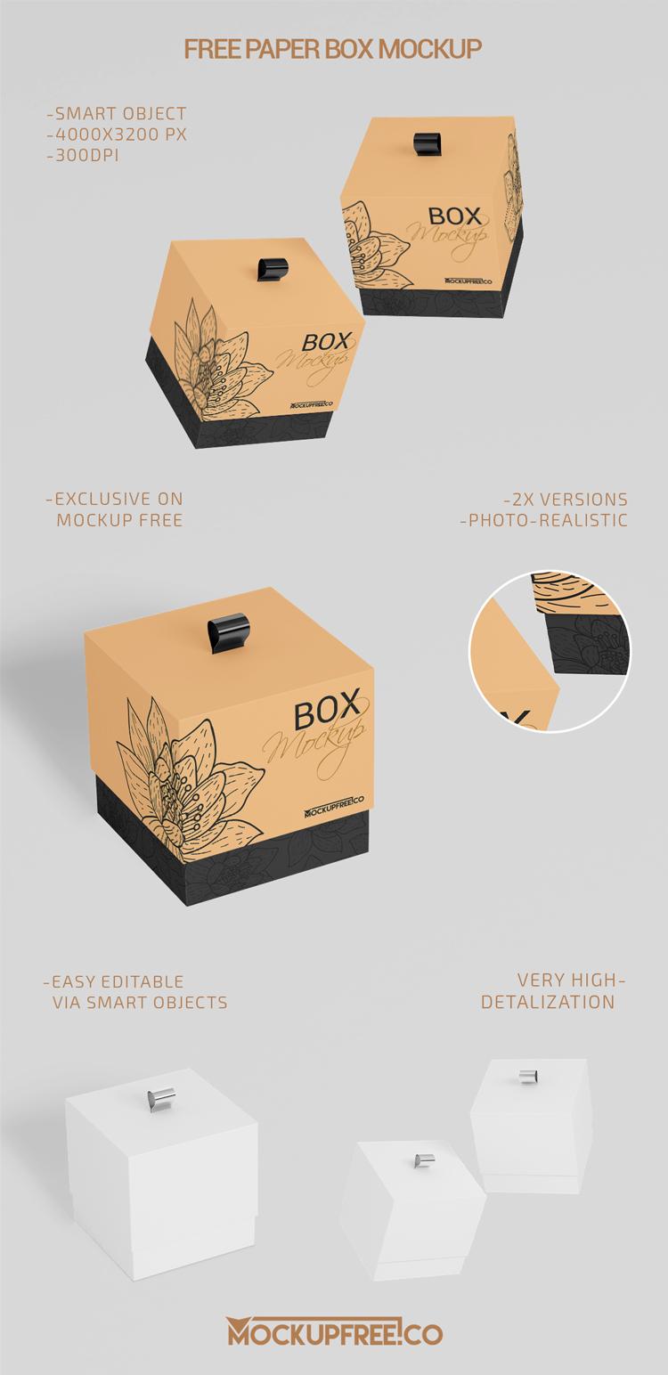 Download Paper Box - 2 Free PSD Mockups | Download