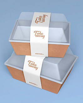 Download Food Container Paper Box - 2 Free PSD Mockups | Download