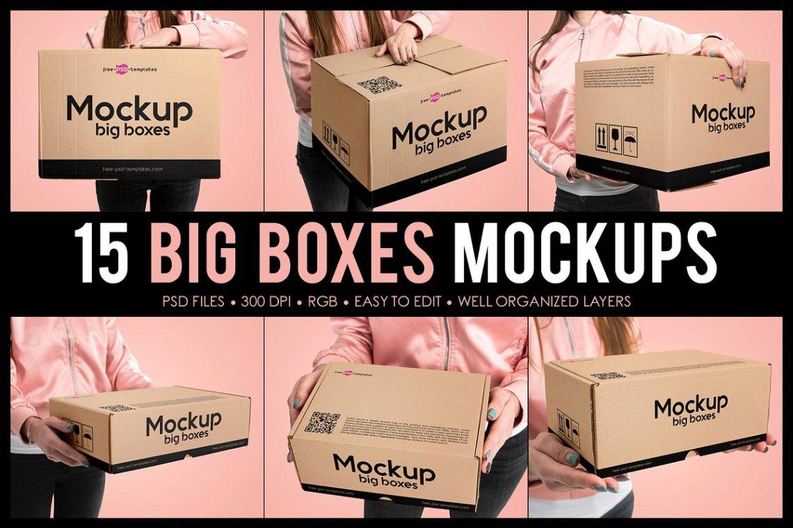 Download 15 Big Boxes Mockup Set | Download