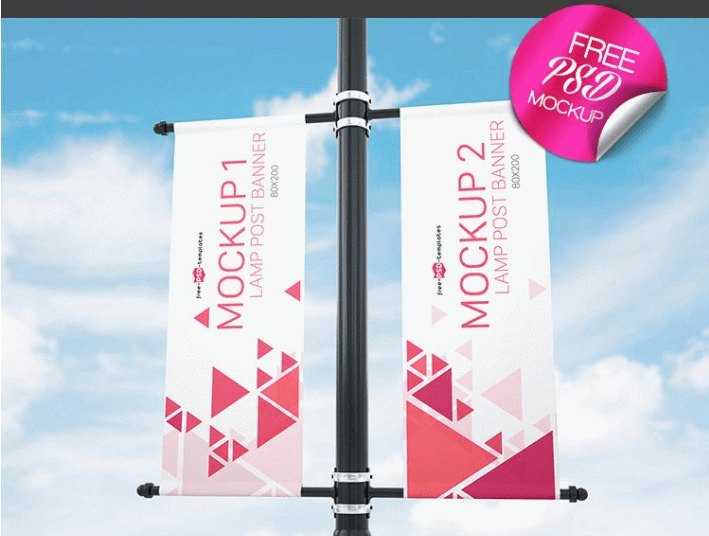 Download Free Banner Mockup Free Download PSD Graphic Files