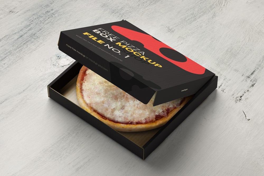 Download Opened Pizza Box Free Mockup - Mockup Free Downloads