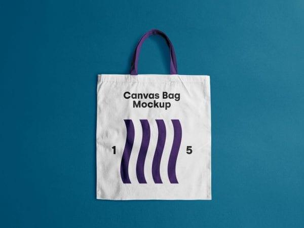 Kraft paper gift bag mockup. Download Free Canvas Bag Mockup Mockup Free Downloads