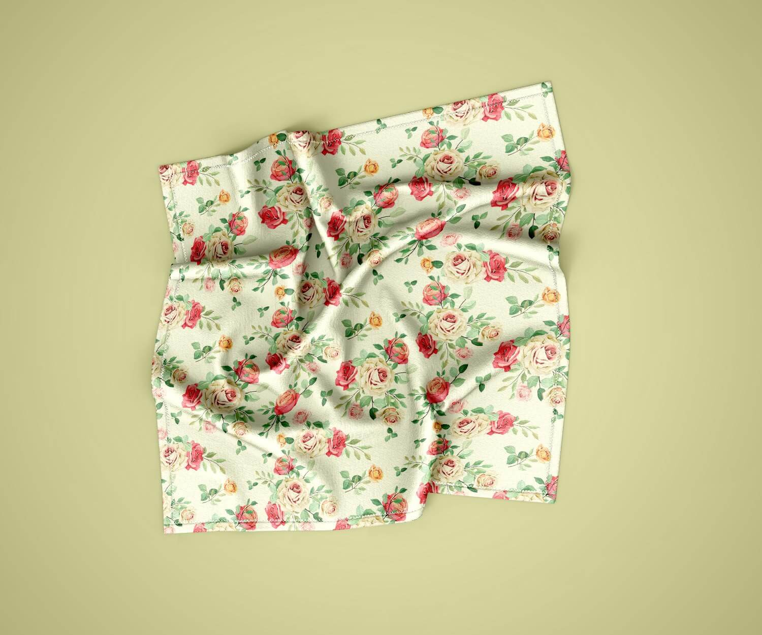Free psd shows of handkerchiefs pocket tissue mockup. Free Handkerchief Mockup Psd Template Mockuphut Exclusive