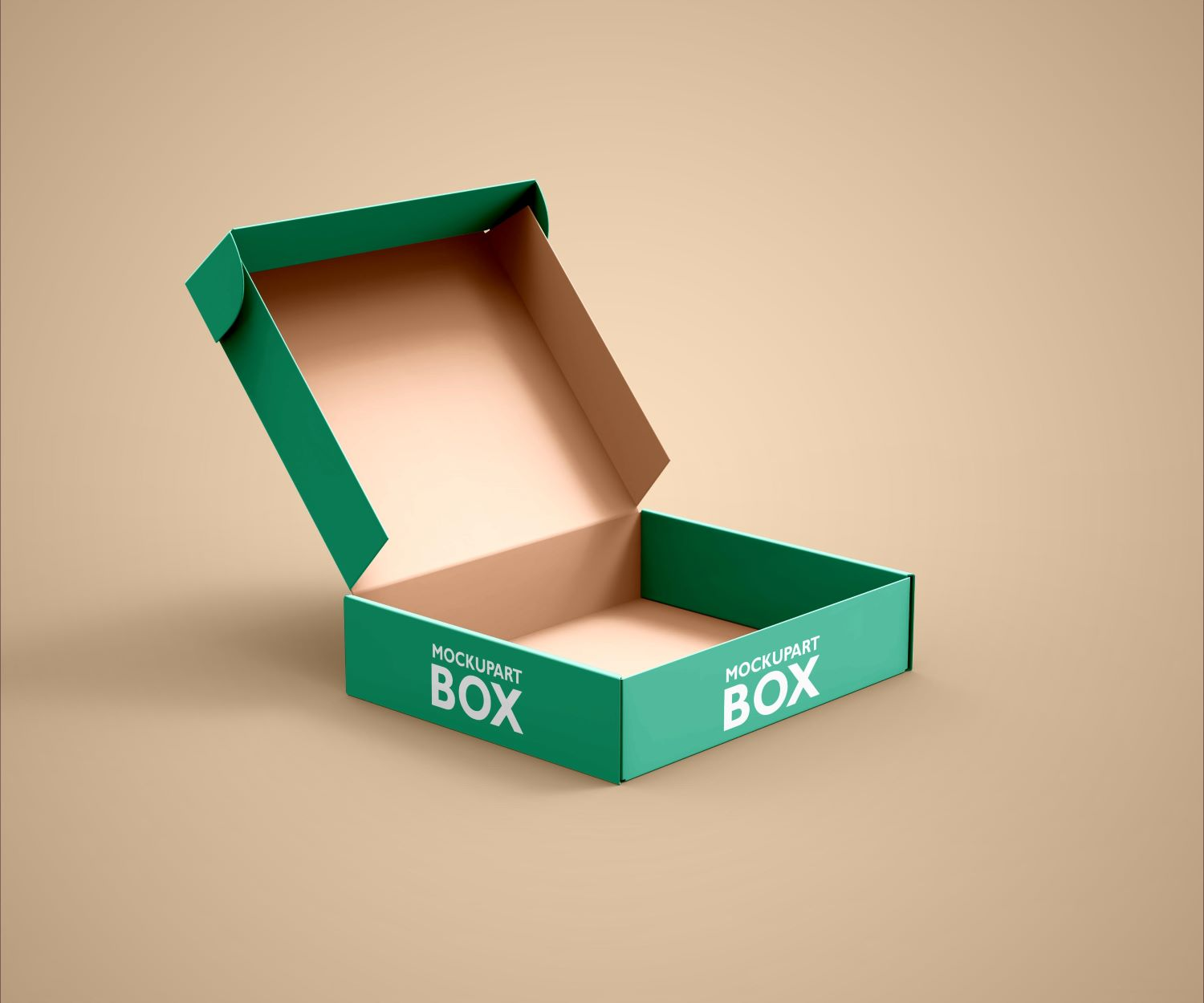 mailing box mockup featuring a solid color backdrop. Free Mailing Box Mockup Psd Mockuphut Exclusive Mockup Hut