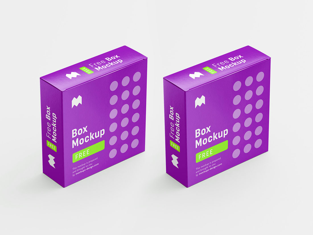 Download Free PSD Box Mockup Design Template - Mockup River