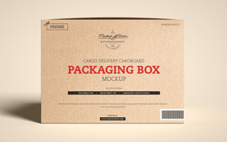 Download Free Cargo Delivery Cardboard Packaging Box Mockup ...
