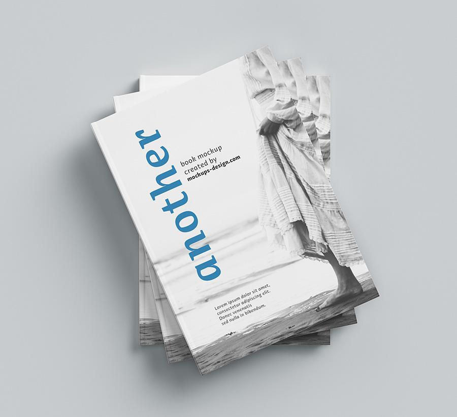 Download Free A4 hardcover book mockup - Mockups Design | Free ...