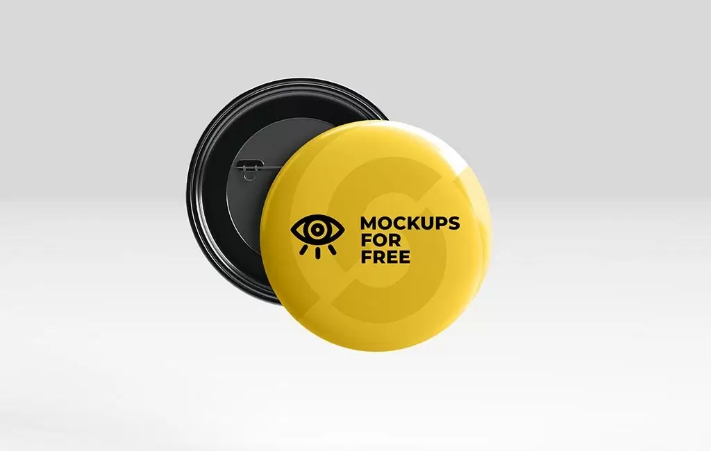 Download free graphic resources for mockup. Pin Badge Mockup Mockups For Free