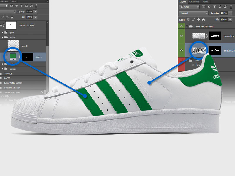 Download Adidas Superstar PSD Mockup | MockupsQ