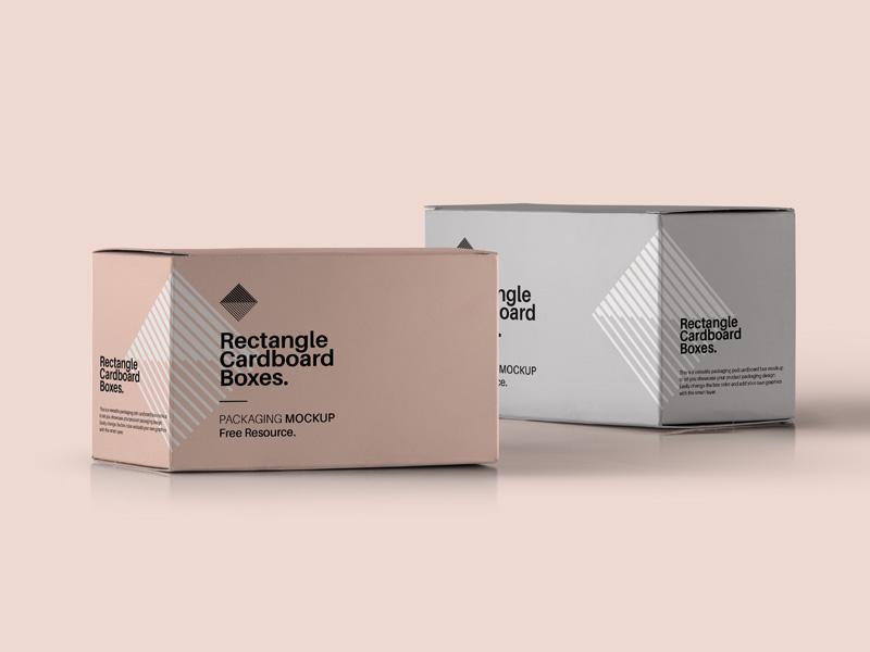 Download Rectangular Box PSD Mockup | MockupsQ