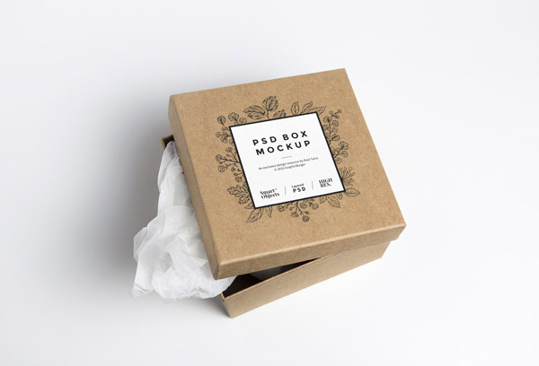 Download Free Square Cardboard Box Mockup   Mockuptree