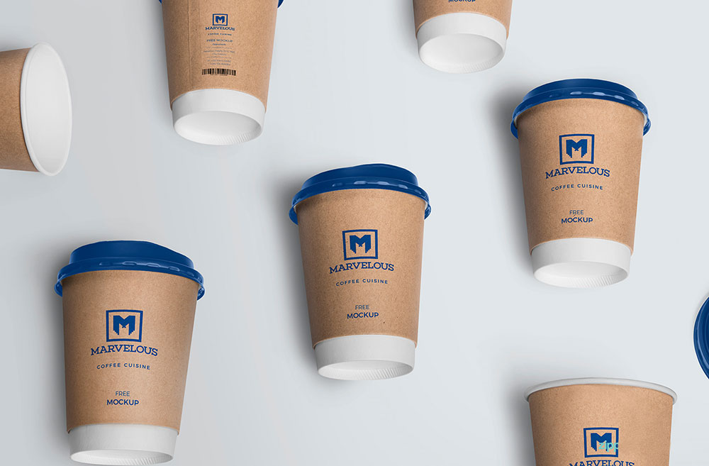 Download Free Disposable Coffee Cup Mockup | Mockuptree