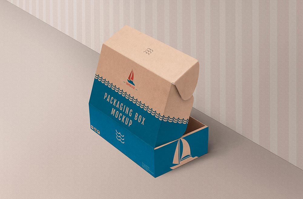 Download Free Kraft Product Box Mockup | Mockuptree