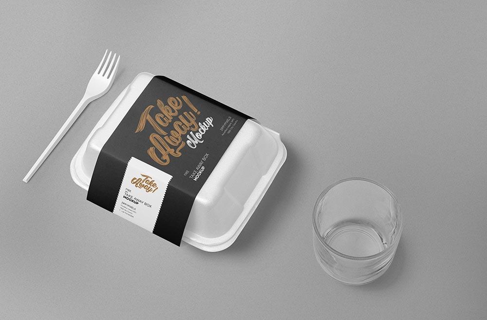 Download Free Disposable Food Packaging Mockup | Mockuptree