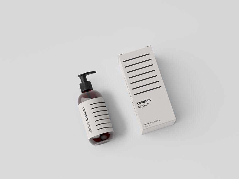 Download Free Cosmetic Bottle Packaging Mockup | Mockuptree