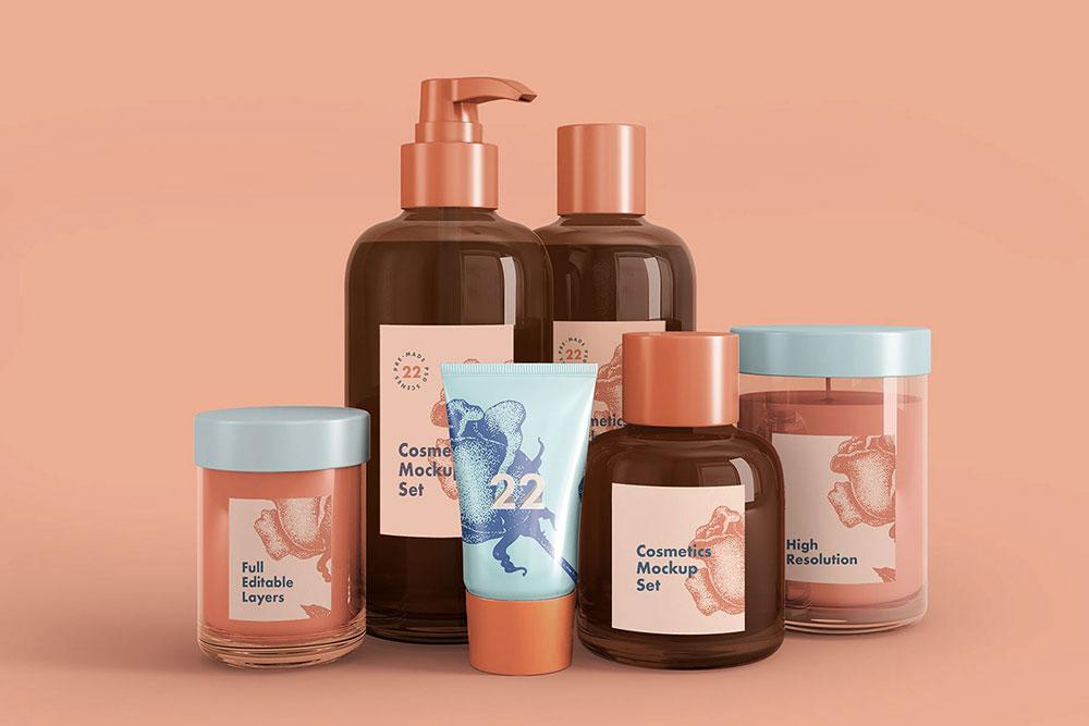 Download Free Cosmetics Mockup Set | Mockuptree