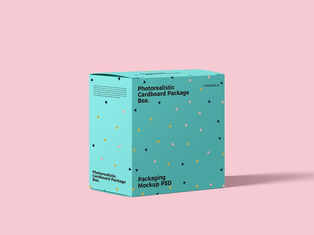 Download Free Cardboard Package Box Mockup | Mockuptree