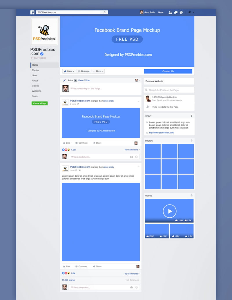 Expand your reach and recruit more candidates on the largest social network. Free Facebook Mockup Psd Template Mockuptree
