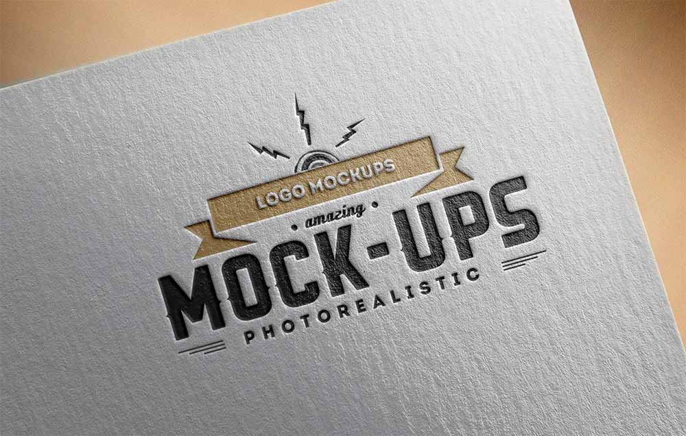 Delicate design for the most precious messages to deliver! Free Paper Logo Mockup Mockuptree