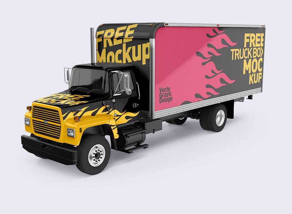 Download Free Ford Box Truck Mockups | Mockuptree