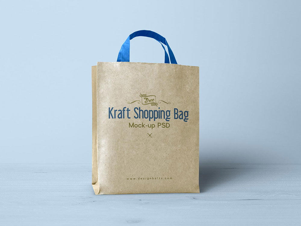 This is a high quality psd shopping bag mockup style to let you showcase your. Free Kraft Paper Shopping Bag Mockup Mockuptree