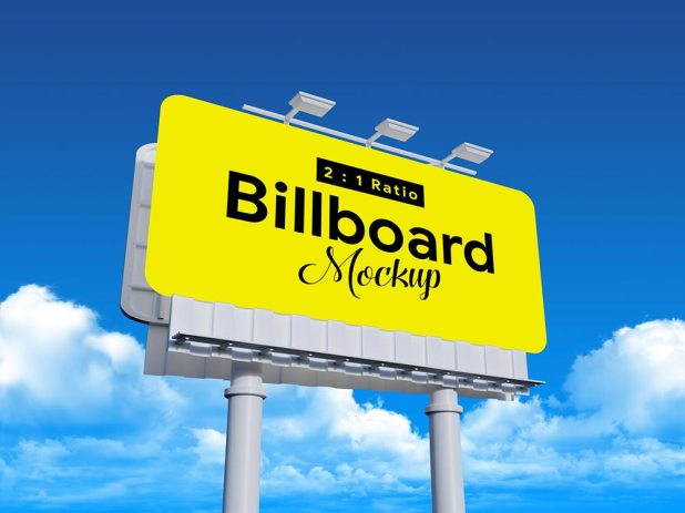 Free Outdoor Advertising Rounded Corvers Billboard Mockup - IN PP GIÁ RẺ TẠI CẦN THƠ