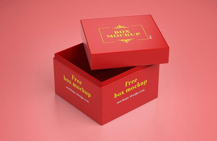 Download Free Simple Gift Box Mockup | Mockuptree