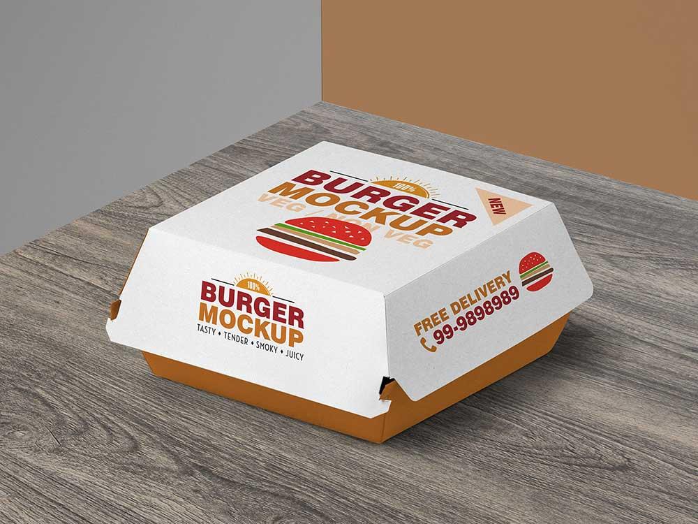 Download Free Burger Box Mockup | Mockuptree
