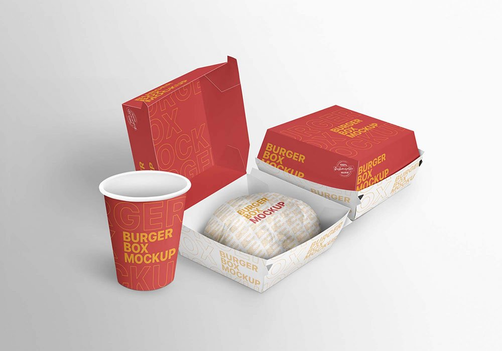 Download Free Burger Boxes Mockup | Mockuptree