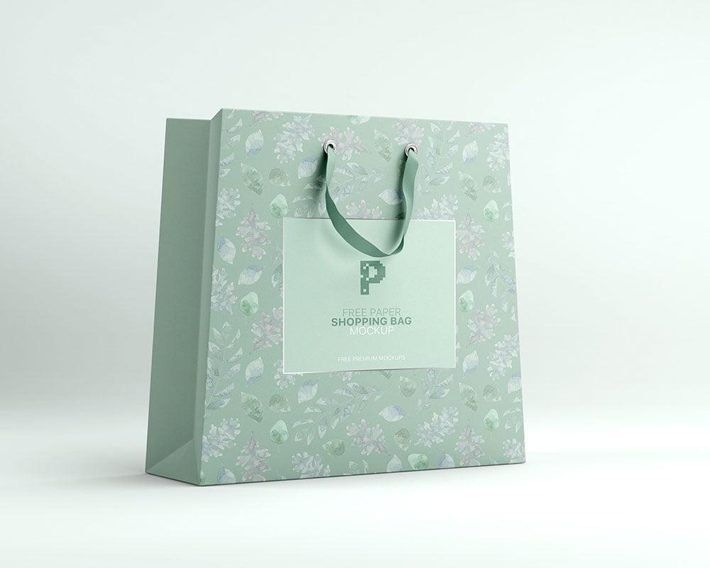 Free paper carry bag mockup. Free Paper Shopping Bag Mockup Psd Mockuptree