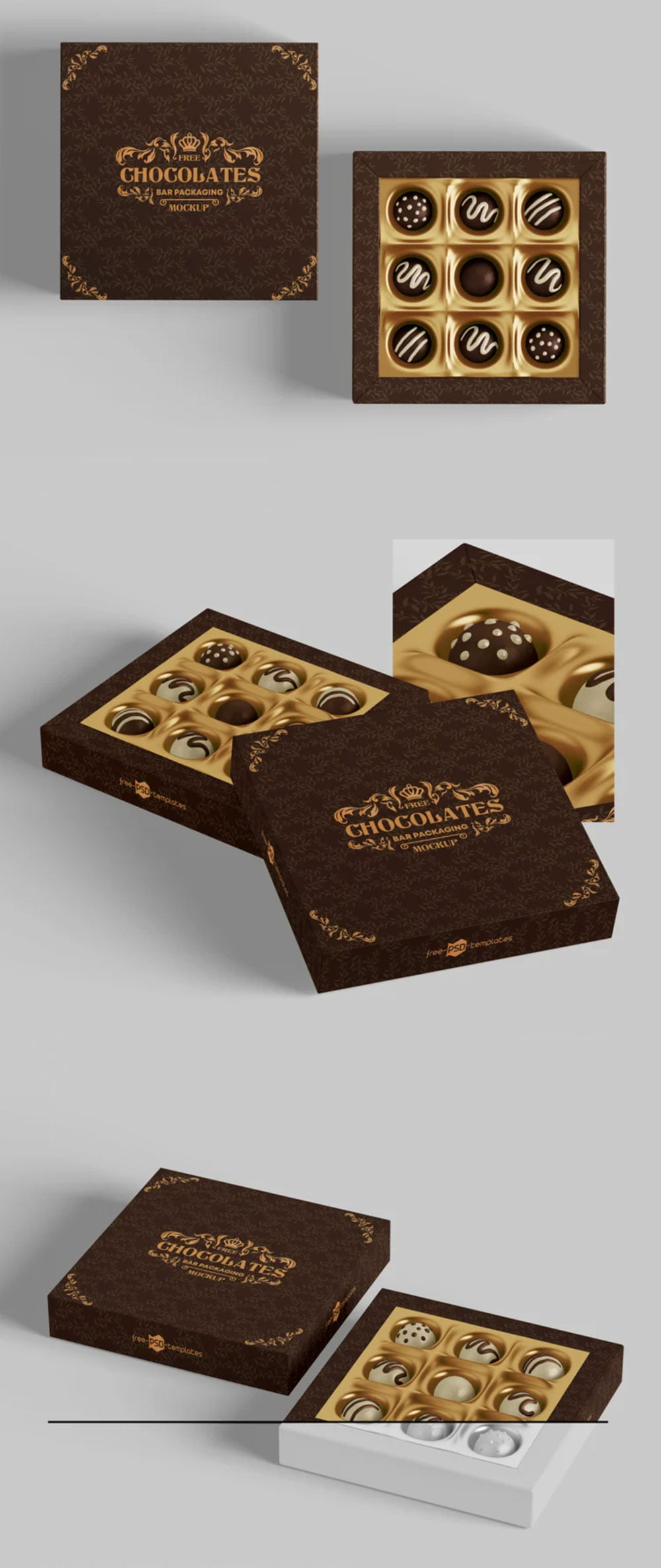 Download Free Chocolate Packaging Mockup PSD | Mockuptree
