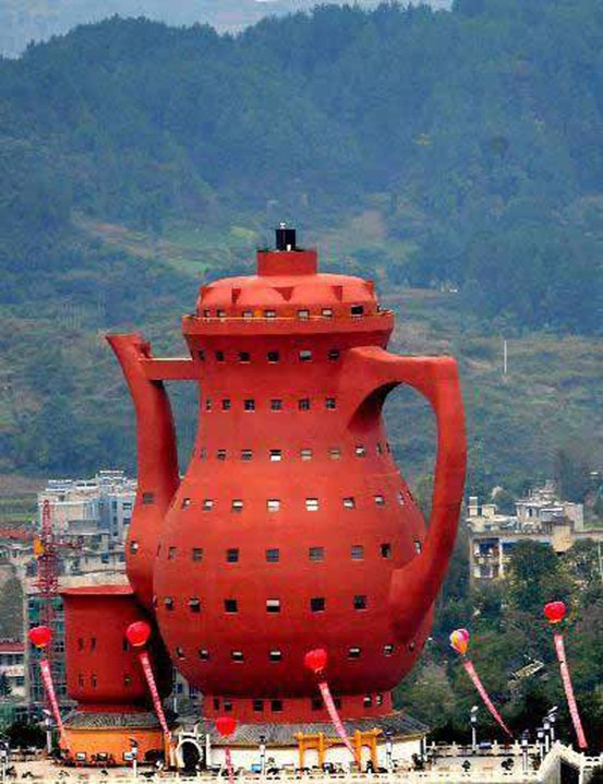 Teapot Shaped Museum Of Tea Culture, Meitan China.