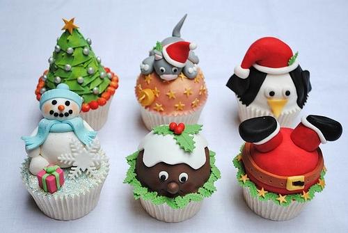 funny christmas cupcakes