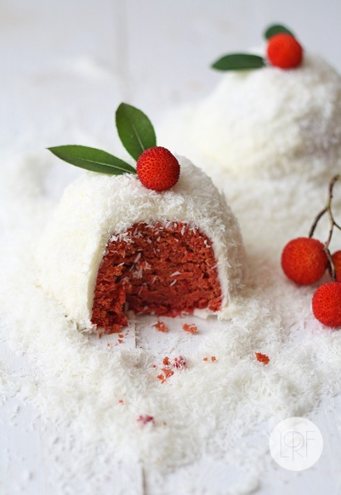 christmas cake recipe red velvet snow