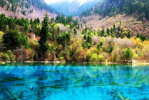 valley Jiuzhaigou -Valley of Nine Villages- is a spectacular national park-Sierra Min Shan, China 5
