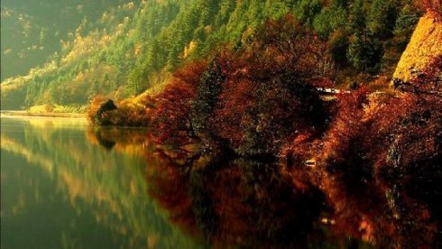 valley Jiuzhaigou -Valley of Nine Villages- is a spectacular national park-Sierra Min Shan, China 12