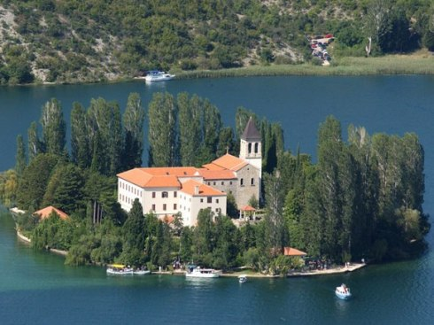 Krka National Park lies on Visovac island, Croatia 3