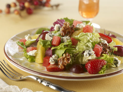 easy and refreshing watermelon walnut salad