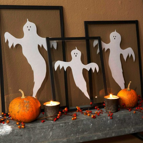 indoor halloween decorating ideas with ghosts 3